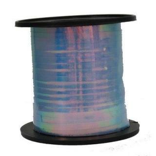 Iridescent Blue 225M metallic curling ribbon