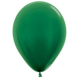 Metallic Forest Green 12cm Balloons P100