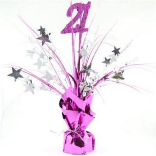 Number 21 Pink with Silver P1