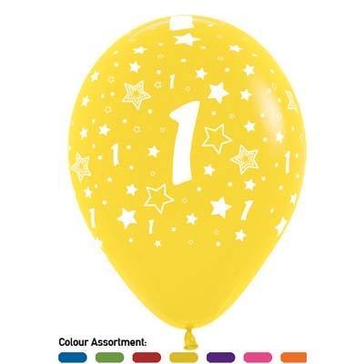 Number Birthday Latex Balloon Bouquet