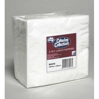 White  2ply Lunch Napkin P100x20