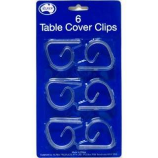 Table cover clips - Clear P6