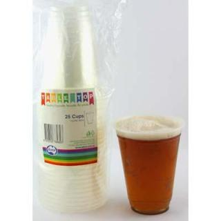 Plastic Clear Cups 285ml P25