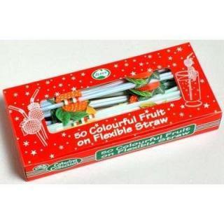 Fruit on Flexi Straw Box 50