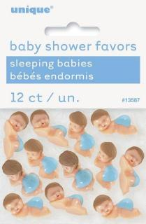 12 BABIES WITH DIAPER BLUE