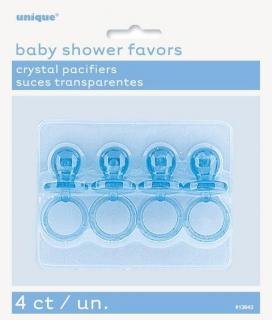 4 PACIFIERS 2 CRYSTAL BLUE