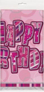 Happy Birthday Pink Tablecover
