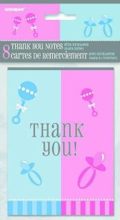 BABY REVEAL 8 THANKYOU NOTES