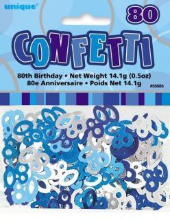 GLITZ BLUE CONFETTI .5oz - 80