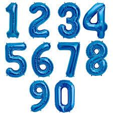 Large Number Balloon - Blue