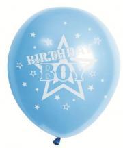 Birthday Boy Star - 30cm Printed Balloons 10 Pack