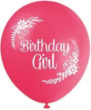 Birthday Girl Pink - 30cm Printed Balloons 10 Pack