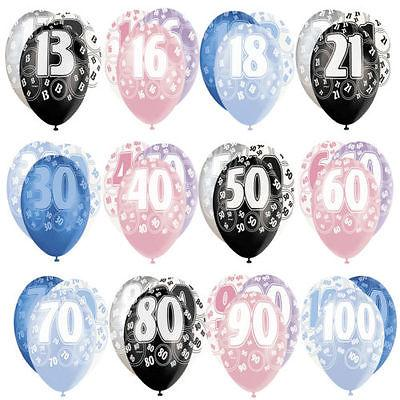 Glitz Latex Milestone Birthday Balloon Bouquet