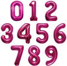 Large Number Balloon - Pink