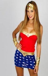 Wonder Woman 4 Piece Costume